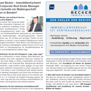 Michael Becker Immobilienmakler in Bendorf, Vallendar, Neuwied
